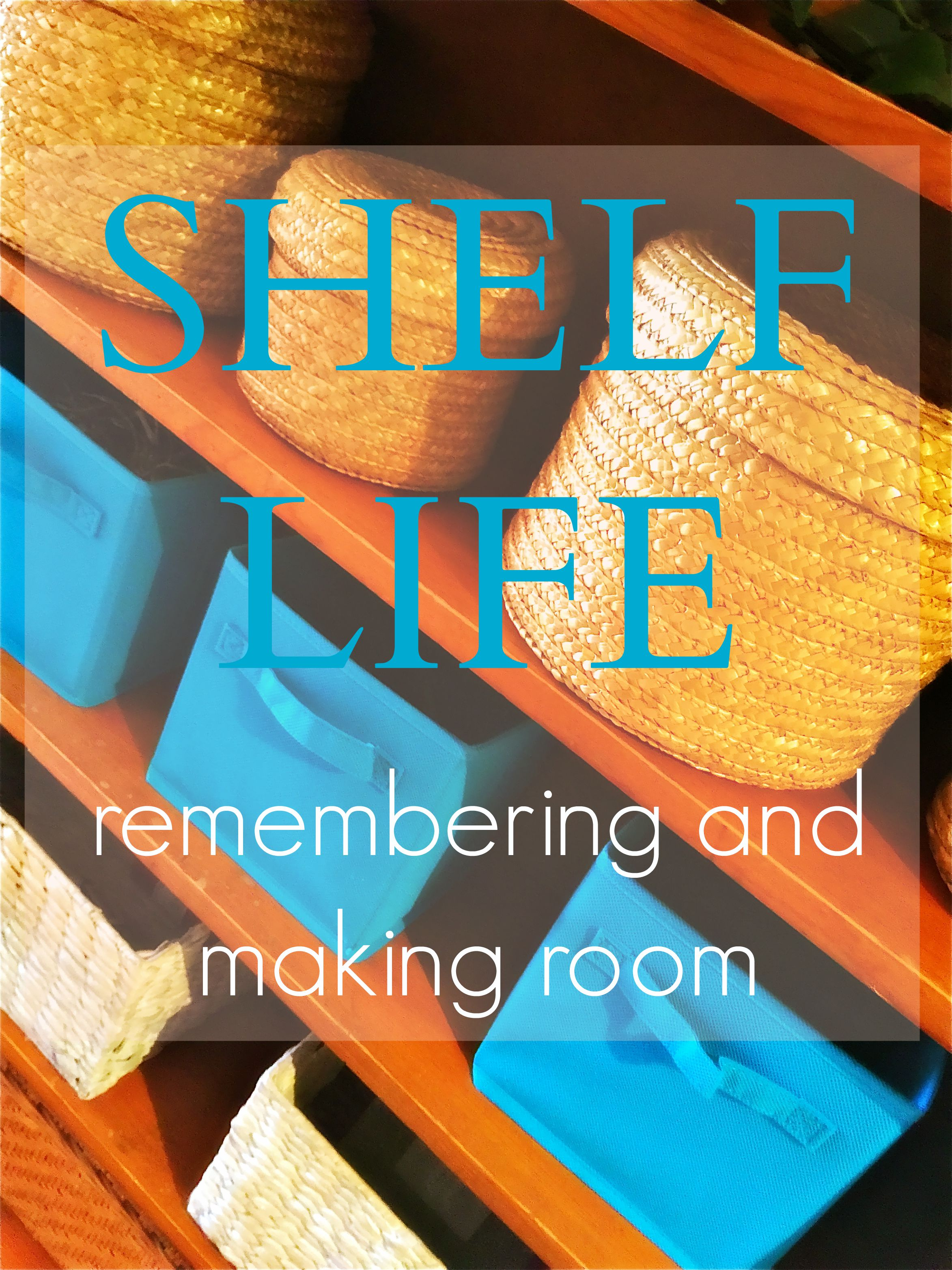 Remembering and making room - the story of a bookshelf